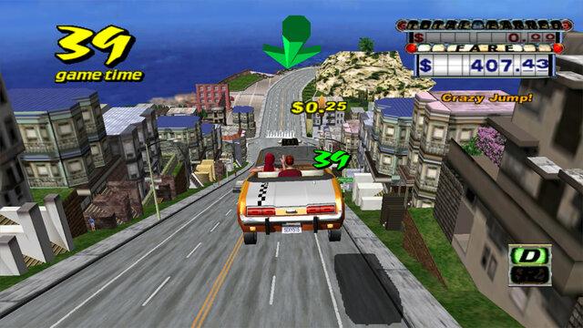 Кадры из игры Crazy Taxi 2