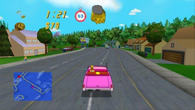 Кадры из игры The Simpsons: Road Rage